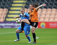 Sherry McCue of Sheffield FC Ladies and Katie Wilkinson of London Bees during London Bees vs Sheffield FC Ladies, FA Women's Super League FA WSL2 Football at the Hive Stadium on 12th May 2018