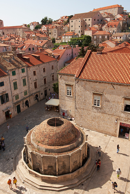 Stock photos of The Big Onorrio's Fountain - Dubrovnik - Croatia