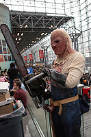 NEW YORK, USA - October 3: A cosplayer pose during day one of New York Comic Con at the Jacob K. Javits Convention Center on Oct. 3, 2019 in New York.<br /> The 2019 New York Comic-Con at the Jacob K. Javits Convention Center Day 1 with the latest in superhero movies, sci-fi shows, animation, video games, comic book releases available to attendees.<br /> (Photo by Luis Boza/VIEWpress/Corbis via Getty Images)