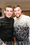 Wayne Duggan and Peter Murphy pictured at the John Mitchel's Strictly Come Dancing at the Ballygarry House Hotel on Sunday night.