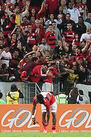 RIO DE JANEIRO; RJ; 28 DE JULHO 2013 -  Jogadores do Flamengo comemoram o empate no fim do jogo durante partida contra o Botafogo pela nona rodada do Campeonato Brasileiro no Estádio do Maracanã neste domingo, 28. (Foto. Néstor J. Beremblum / Brazil Photo Press).