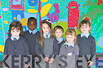 FIRST: Getting ready to attend their first day at St John's Ashe Street, National School on Monday were: Orla Rusk, Samual, Rebecca Lannon,Kaplon Carter O'Flynn,Si?ofra O Carroll and Charolett Fort....   Copyright Kerry's Eye 2008