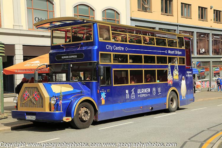 Ulriken express bus, city of Bergen, Norway