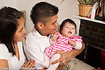 Young parents with 4 month old baby girl