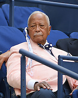 FLUSHING NY- SEPTEMBER 05: David Dinkins is seen watching Venus Williams Vs Pliskova on Arthur Ashe Stadium at the USTA Billie Jean King National Tennis Center on September 5, 2016 in Flushing Queens. Credit: mpi04/MediaPunch