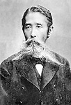 Undated - Taisuke Itagaki (1837-1919) was a Japanese politician and leader of the Freedom and People's Rights Movement, which was the first Japanese party and an important force for liberalism in Meiji Japan. He was an important force for liberalism in Meiji Japan. He was elevated to the peerage posthumously, and given the rank of hakushaku.  (Photo by Kingendai Photo Library/AFLO)