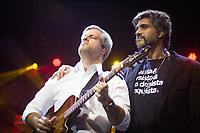 SÃO PAULO,SP, 22.04.2017 -SHOW-SP - A dupla sertaneja Vitor e Leo durante apresentação no Espaço das Américas na região oeste de São Paulo na noite deste sábado, 22. (Foto: Danilo Fernandes/Brazil Photo Press)