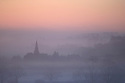 29/12/16<br /> <br /> Completing a serene looking winter's morning, the spire of St James Church in Idridgehay, pokes through freezing mist in the Ecclesbourne Valley near Wirksworth, Derbyshire.<br /> <br /> All Rights Reserved F Stop Press Ltd. (0)1773 550665   www.fstoppress.com