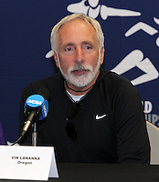 Coach Vin Lananna at the 2011 NCAA Indoor Track & Field Championships Press Conference on Thursday, March 10, 2011. Photo by Errol Anderson.