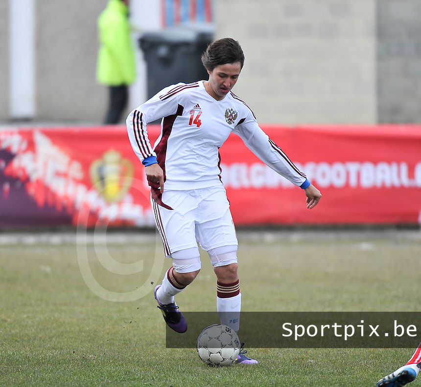 Switzerland U19 - Russia U19 : Russia nr 14  Nasiba Gasanova.foto DAVID CATRY / Nikonpro.be