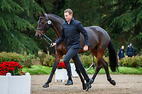 NZL-Jesse Campbell presents Global Candy Boy during the First Horse Inspection for the CCI2*-L6YO. 2019 FRA-Mondial du Lion - FEI World Breeding Championships. Le Lion d'Angers. France. Wednesday 16 October. Copyright Photo: Libby Law Photography