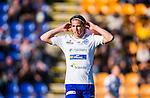 Uppsala 2014-06-26 Fotboll Superettan IK Sirius - IFK V&auml;rnamo :  <br /> V&auml;rnamos Oskar Johansson <br /> (Foto: Kenta J&ouml;nsson) Nyckelord:  Superettan Sirius IKS Studenternas IFK V&auml;rnamo portr&auml;tt portrait
