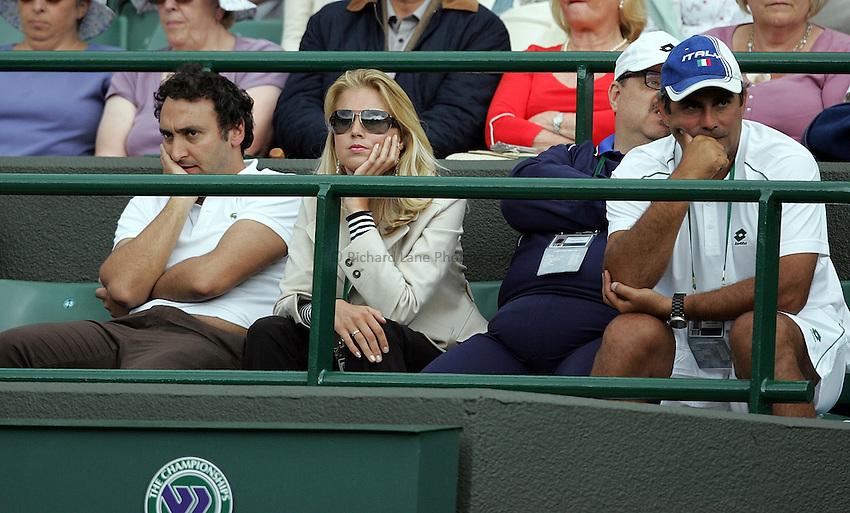 Photo: Paul Thomas..Wimbledon Championships. 28/06/2007...Simone Bolelli's (ITA) support crew watch during his game against Lleyton Hewitt.