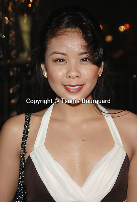 Jaclyn Ngan arriving at the FREEDOM WRITER Premiere at the Westwood Theatre in Los Angeles.<br /> <br /> headshot<br /> eye contact
