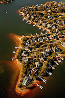 Charlotte aerial photography - October 2010 - of Lake Norman in northern Mecklenburg County.