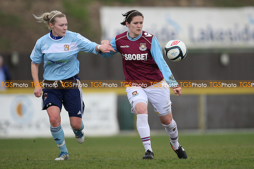 Becky Merrit in action for West Ham - West Ham United Ladies vs Coventry City Ladies - FA Womens Premier League Cup Quarter-Final at Ship Lane, Thurrock FC - 08/04/12 - MANDATORY CREDIT: Gavin Ellis/TGSPHOTO - Self billing applies where appropriate - 0845 094 6026 - contact@tgsphoto.co.uk - NO UNPAID USE.
