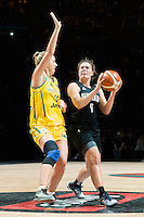 Melbourne, 15 August 2015 - Stella BECK of New Zealand in action during game one of the 2015 FIBA Oceania Championships in women's basketball between the Australian Opals and the New Zealand Tall Ferns at Rod Laver Arena in Melbourne, Australia. Aus def NZ 61-41. (Photo Sydney Low / sydlow.com)
