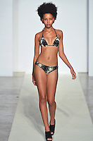 Wet Couture Swimwear by Angelina Petraglia Fashion Show Model, Staci Lyon, at Funkshion Fashion Week Miami Beach 2012 at The Moore Building on March 16, 2012