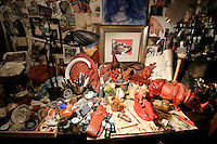 L'interno dello studio d'arte Mirabilia di Gigi Bon.<br /> Interior of Gigi Bon's art studio Mirabilia in Venice.<br /> UPDATE IMAGES PRESS/Riccardo De Luca