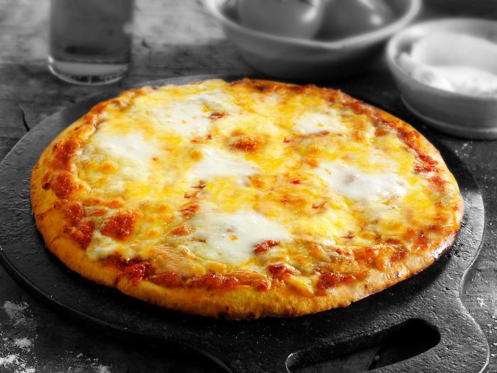 Italian Quattro Fromaggi Pizza ( 4 cheese) photo. Funky Stock pizzas photos