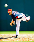 6 March 2010: Washington Nationals' pitcher Aaron Thompson in action during a Spring Training game against the New York Mets at Space Coast Stadium in Viera, Florida. The Mets defeated the Nationals 14-6 in Grapefruit League action. Mandatory Credit: Ed Wolfstein Photo