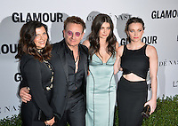 LOS ANGELES, CA. November 14, 2016: Singer Bono, of U2, &amp; wife Ali Hewson &amp; Eve Hewson &amp; Jordan Hewson at the Glamour Magazine 2016 Women of the Year Awards at NeueHouse, Hollywood.<br /> Picture: Paul Smith/Featureflash/SilverHub 0208 004 5359/ 07711 972644 Editors@silverhubmedia.com