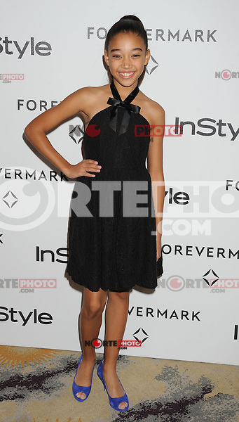 BEVERLY HILLS, CA - JANUARY 10: Amandla Stenberg arrives at the Forevermark And InStyle Golden Globes Event at Beverly Hills Hotel on January 10, 2012 in Beverly Hills, California.