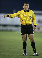 2 April 2005:  Baldomero Toledo, head referee in action during Earthquakes/Revolution's game at Spartan Stadium in San Jose, California.   Earthquakes and Revolutions tied at 2-2.  Credit: Michael Pimentel / ISI