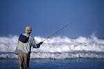 Waves crashing on a Christmas Island angler