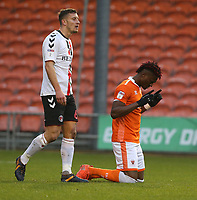 Blackpool's Armand Gnanduillet celebrates scoring the opening goal <br /> <br /> Photographer Stephen White/CameraSport<br /> <br /> The EFL Sky Bet League One - Blackpool v Charlton Athletic - Saturday 8th December 2018 - Bloomfield Road - Blackpool<br /> <br /> World Copyright &copy; 2018 CameraSport. All rights reserved. 43 Linden Ave. Countesthorpe. Leicester. England. LE8 5PG - Tel: +44 (0) 116 277 4147 - admin@camerasport.com - www.camerasport.com