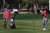 Kurt Kitayama (USA) on the 2nd fairway during the Pro-Am of the Abu Dhabi HSBC Championship 2020 at the Abu Dhabi Golf Club, Abu Dhabi, United Arab Emirates. 15/01/2020<br /> Picture: Golffile | Thos Caffrey<br /> <br /> <br /> All photo usage must carry mandatory copyright credit (© Golffile | Thos Caffrey)