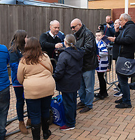 Reading manager Mark Bowen meeting the fans as he arrives to manager his first game <br /> <br /> Photographer David Horton/CameraSport<br /> <br /> The EFL Sky Bet Championship - Reading v Preston North End - Saturday 19th October 2019 - Madejski Stadium - Reading<br /> <br /> World Copyright © 2019 CameraSport. All rights reserved. 43 Linden Ave. Countesthorpe. Leicester. England. LE8 5PG - Tel: +44 (0) 116 277 4147 - admin@camerasport.com - www.camerasport.com