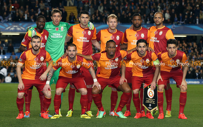 The Galatasaray team group - Chelsea vs Galatasaray, UEFA Champions League Round of 16 2nd Leg at Stamford Bridge, Chelsea - 18/03/14 - MANDATORY CREDIT: Rob Newell/TGSPHOTO - Self billing applies where appropriate - 0845 094 6026 - contact@tgsphoto.co.uk - NO UNPAID USE