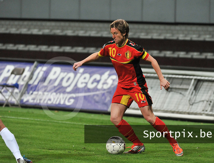 20131031 - ANTWERPEN , BELGIUM : Belgian Aline Zeler pictured during the female soccer match between Belgium and Portugal , on the fourth matchday in group 5 of the UEFA qualifying round to the FIFA Women World Cup in Canada 2015 at Het Kiel stadium , Antwerp . Thursday 31st October 2013. PHOTO DAVID CATRY