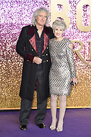 "LONDON, UK. October 23, 2018: Brian May & Anita Dobson at the world premiere of ""Bohemian Rhapsody"" at Wembley Arena, London.<br /> Picture: Steve Vas/Featureflash"