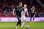Lucas Biglia of Argentina (L) in action during the International Friendly 2018 match between Spain and Argentina at Wanda Metropolitano Stadium on 27 March 2018 in Madrid, Spain. Photo by Diego Souto / Power Sport Images