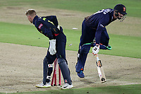 Simon Harmer of Essex is run out during Kent Spitfires vs Essex Eagles, Vitality Blast T20 Cricket at the St Lawrence Ground on 2nd August 2018