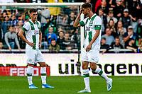 GRONINGEN - Voetbal, FC Groningen - FC Twente, Eredivisie, seizoen 2019-2020, 10-08-2019, FC Groningen speler Ramon Pascal Lundqvist kan het niet geloven en gaat met rood aan de kant