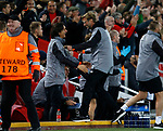 Jurgen Klopp manager of Liverpool celebrates the second goal during the Champions League Group E match at the Anfield Stadium, Liverpool. Picture date 13th September 2017. Picture credit should read: Simon Bellis/Sportimage