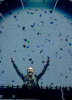 MADRI, ESPANHA, 07 DE JULHO 2012 - ROCK IN RIO MADRI - O dj David Guetta durante apresentacao no Rock In Rio Madri, na noite de ontem sexta-feira, 06. (FOTO: ALFAQUI / BRAZIL PHOTO PRESS).