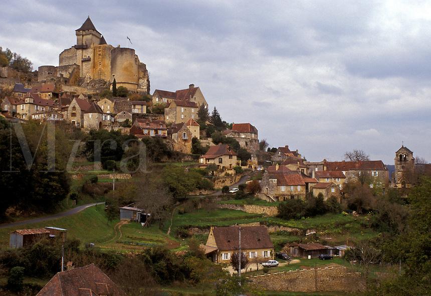 France, Perigord, Dordogne, Aquitaine, Castelnaud, Europe, The picturesque medieval village of Castelnaud.