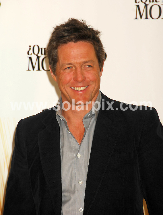 **ALL ROUND PICTURES FROM SOLARPIX.COM**.**SYNDICATION RIGHTS FOR UK, ASIA, AUSTRALIA, CANADA, DUBAI, GREECE, NEW ZEALAND, RUSSIA, SOUTH AFRICA, SOUTH AMERICA, AND USA**.Hugh Grant, during the photocall for his latest film release Did You Hear About The Morgans? Madrid, Spain. 7 January 2010..This pic: Hugh Grant..JOB REF: 10435 SPA     DATE: 07_01_2010.**MUST CREDIT SOLARPIX.COM OR DOUBLE FEE WILL BE CHARGED**.**MUST NOTIFY SOLARPIX OF ONLINE USAGE**.**CALL US ON: +34 952 811 768 or LOW RATE FROM UK 0844 617 7637**
