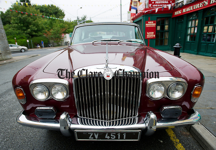 Nice Wheels!...A classic Bentley car parked on the street at the Lisdoonvarna Matchmaking Festival. Photograph by John Kelly.