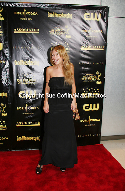As The World Turns' Meredith Hagner - Emmy Nominee for yourger actress at the 36h Annual Daytime Entertainment Emmy® Awards Nomination Party - Sponsored By: Good Housekeeping and The National Academy of Television Arts & Sciences (NATAS) on Thursday, May 14, 2009 at Hearst Tower, New York City, New York. (Photo by Sue Coflin/Max Photos)..