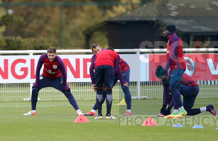 England's Adam Lallana in action during training at Tottenham Hotspur training centre, London. Picture date November 14th, 2016 Pic David Klein/Sportimage
