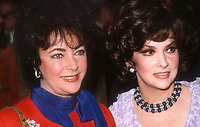 Liz Taylor Gina Lollabrigida1281.JPG<br /> Celebrity Archaeology <br /> 1982 FILE PHOTO<br /> New York, NY<br /> Liz Taylor Gina Lollabrigida<br /> Photo by Adam Scull-PHOTOlink.net