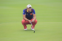 Cao Yi (CHN) on the 3rd green during Thursday's Round 1 of the 2014 BMW Masters held at Lake Malaren, Shanghai, China 30th October 2014.<br /> Picture: Eoin Clarke www.golffile.ie