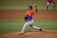 St. Lucie Mets relief pitcher Marcel Renteria (22) during a Florida State League game against the Tampa Tarpons on April 10, 2019 at George M. Steinbrenner Field in Tampa, Florida.  St. Lucie defeated Tampa 4-3.  (Mike Janes/Four Seam Images)