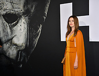 "LOS ANGELES, CA. October 17, 2018: Virginia Gardner at the premiere for ""Halloween"" at the TCL Chinese Theatre.<br /> Picture: Paul Smith/Featureflash"