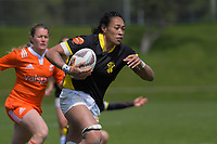 Jackie Patea-Fereti heads for the tryline during the 2018 Farah Palmer Cup women's rugby Championship semifinal match between Wellington Pride and North Harbour Hibiscus at Jerry Collins Stadium in Porirua, Wellington, New Zealand on Saturday, 13 October 2018. Photo: Dave Lintott / lintottphoto.co.nz